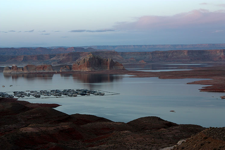 World Travel Photos :: Landscapes :: Arizona. Lake Powell - a twilight at the Lake Powell