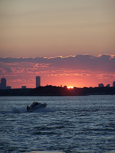 World Travel Photos :: Sunsets :: Summer sunset over Boston