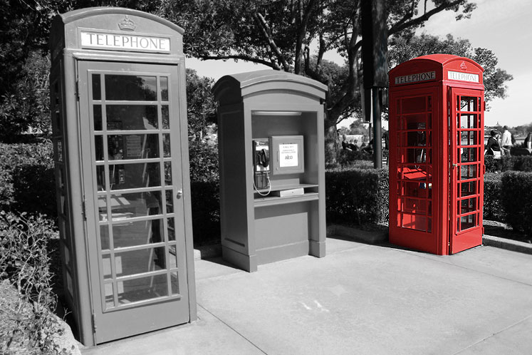 World Travel Photos :: Colors - Rouge :: Orlando. Epcot, British Pavillion