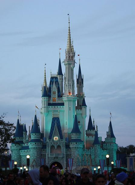 World Travel Photos :: Night views :: Walt Disney World - Cinderella Castle at night