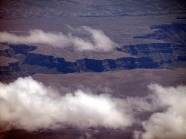 World Travel Photos :: Aerial views :: View on Grand Canyon from the airplane
