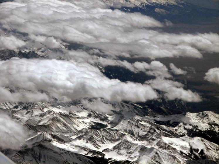 World Travel Photos :: Mountains :: Above Rocky Mountains