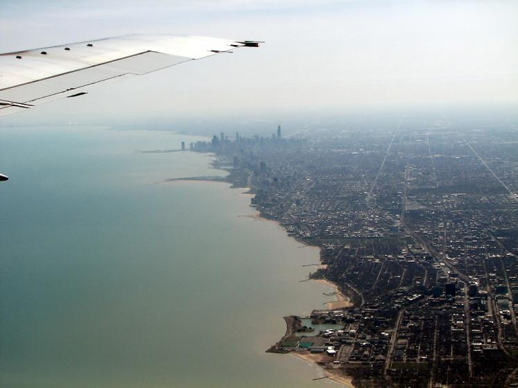 World Travel Photos :: Aerial views :: Chicago from the airplane