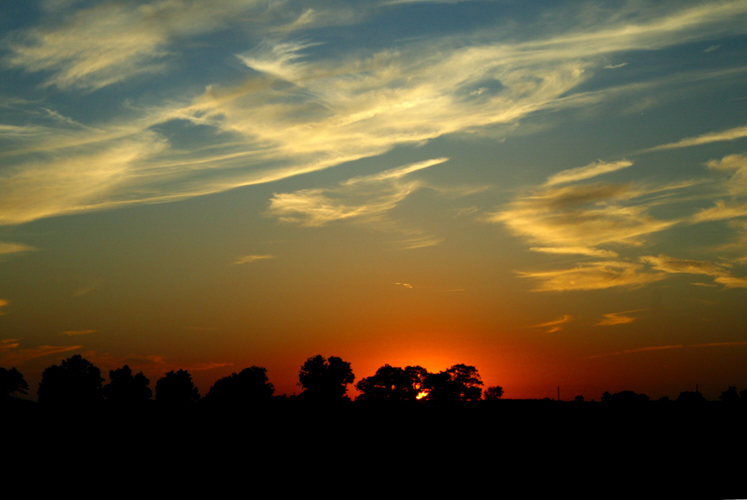 World Travel Photos :: Sunsets :: Indiana - a sunset