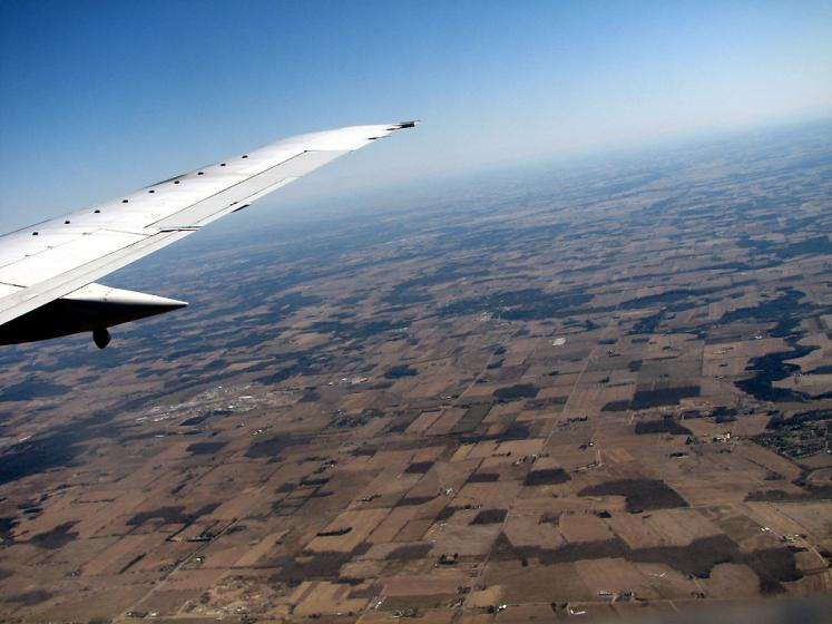 World Travel Photos :: Aerial views :: Michigan - view from the aiplane