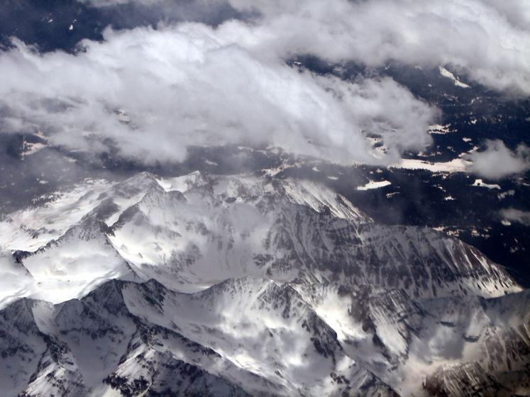 World Travel Photos :: Aerial views :: Rocky Mountains - view from the airplane