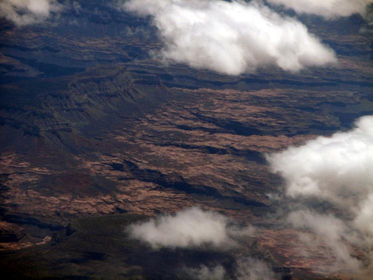 World Travel Photos :: Aerial views :: View from the airplane on Nevada desert