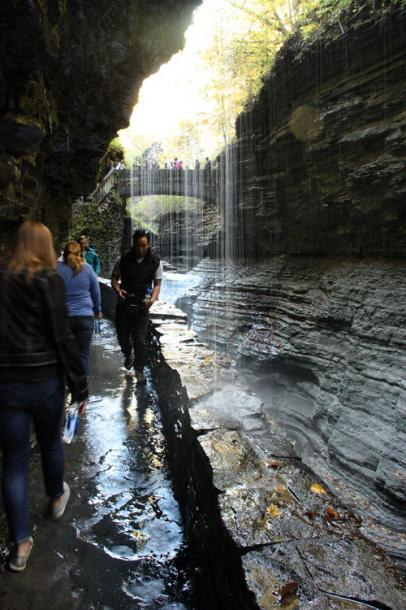 World Travel Photos :: Waterfalls :: Watkins Glen State Park, New York - this is not a rainy day!