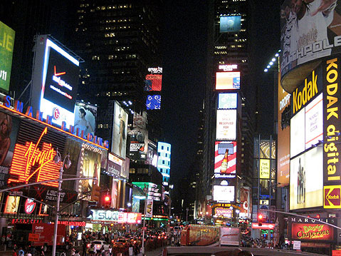 World Travel Photos :: USA - New York City :: New York. Manhatten at Night