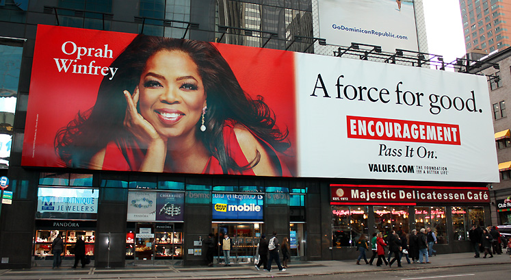 World Travel Photos :: USA - New York City :: NYC - Oprah´s poster