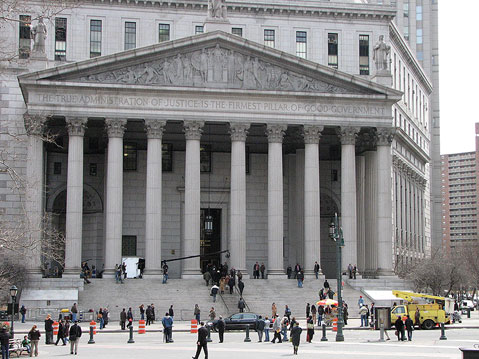 World Travel Photos :: The most famous buildings  :: New York City. Supreme Court Building