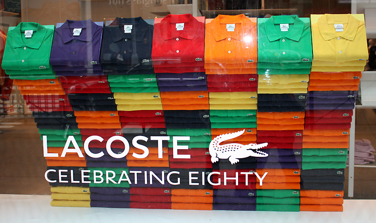 World Travel Photos :: Shop-Windows  :: New York City. Lacoste shop window