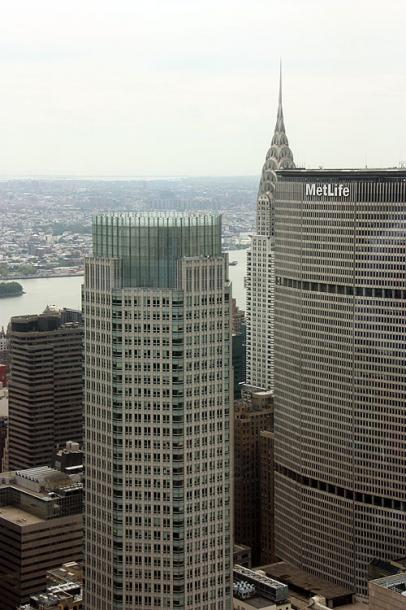 World Travel Photos :: Panoramic views :: New York City - MetLife building and the Chrysler Building