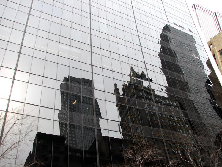 World Travel Photos :: Reflections :: New York City. Reflections of the City