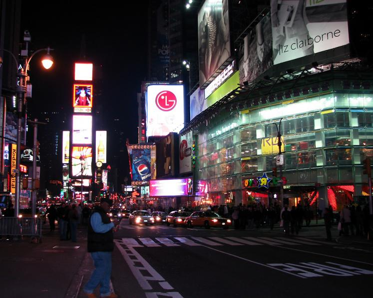 World Travel Photos :: Night views :: New York City. View on Times Square