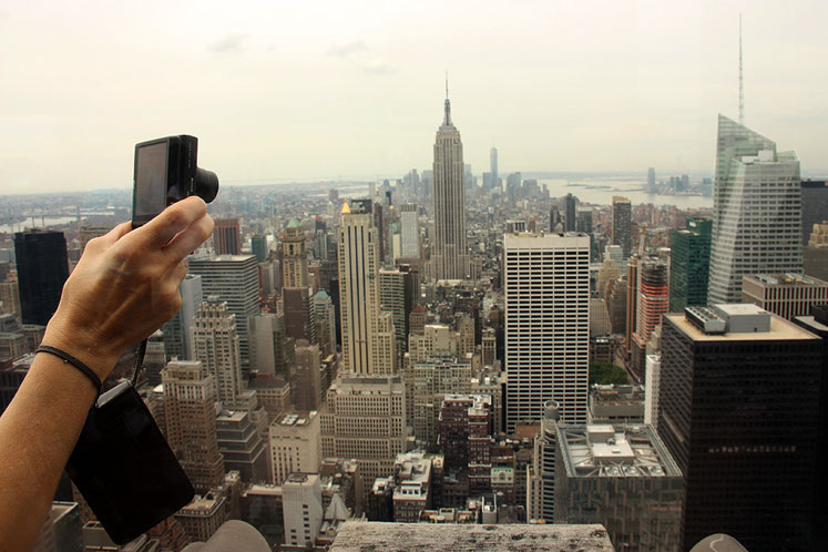 World Travel Photos :: Interesting perspectives :: New York City - at the top of Rockefeller Center