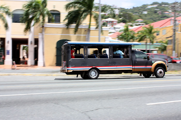 World Travel Photos :: USA - Virgin Islands :: St. Thomas - a local transport
