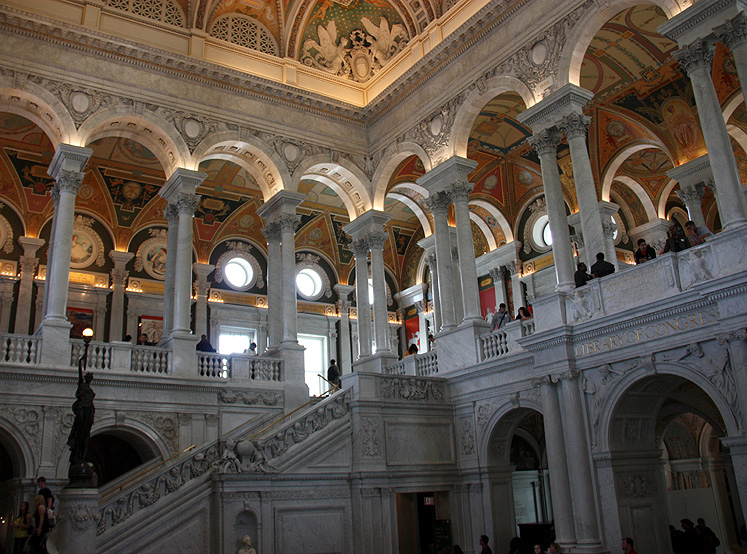 World Travel Photos :: Torontonian :: Washington D.C. - Library of Congress main hall