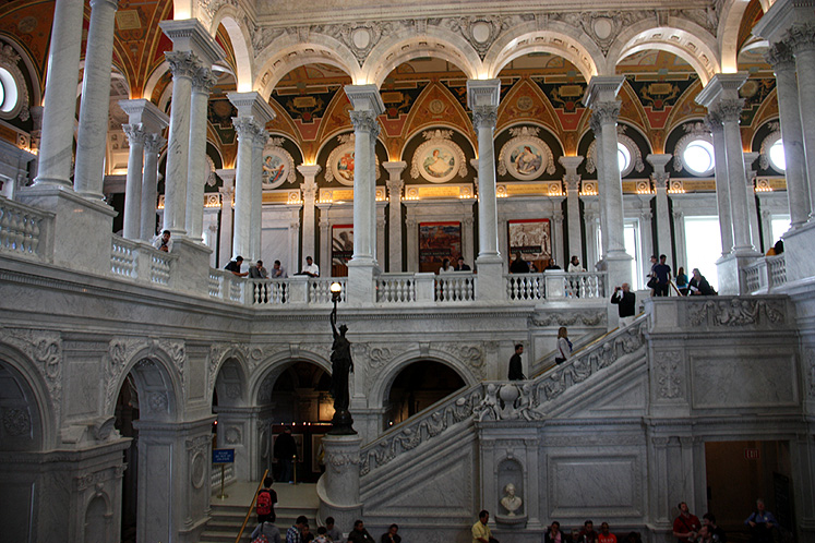 World Travel Photos :: USA - Washington, D.C. :: Washington D.C. - inside the Library of Congress